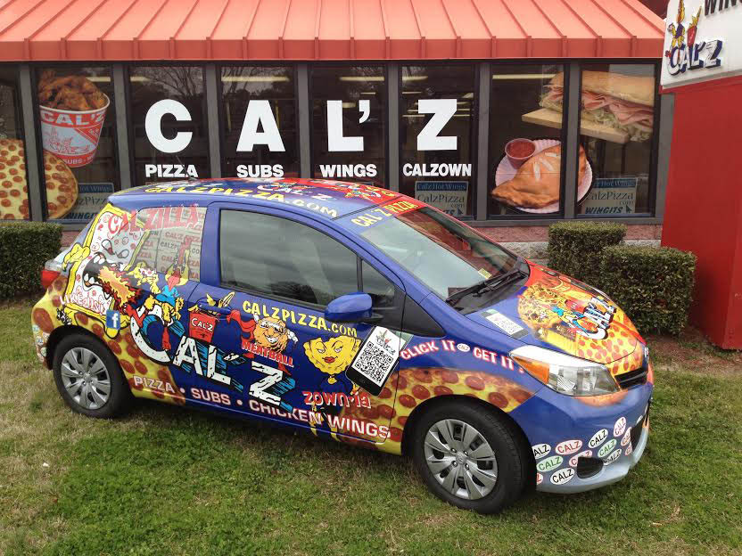 Call Cal'z for pizza delivery to your door