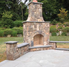 Outdoor Kitchens, Fireplaces, & Fire Pits by Canino Masonry, LLC in Mendham Township NJ