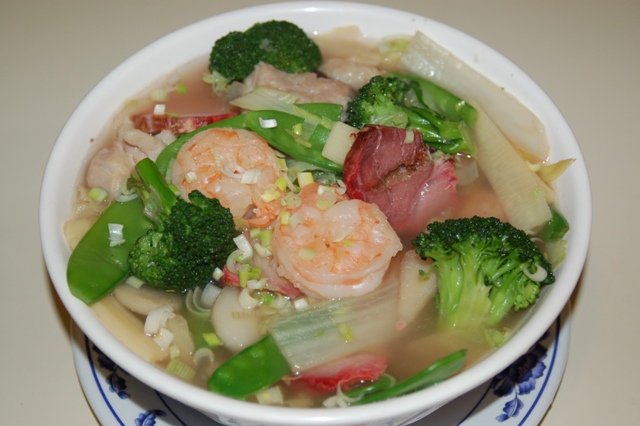 Generous Wor Won Ton Soup with Seafood from Canton Restaurant, Martinez