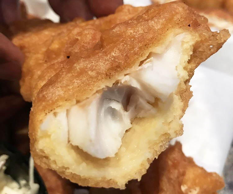 Take a bite out of fresh batter-fried cod