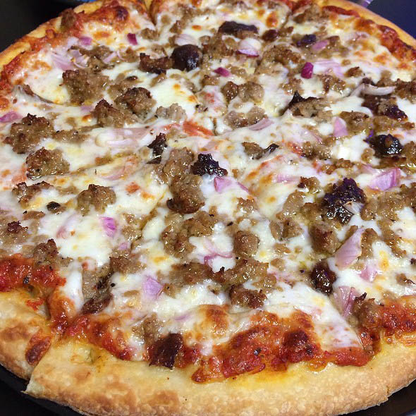 Italian Sausage and Red Onion Pizza in Penngrove, CA