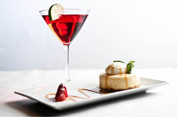 Our happy hour restaurant serves signature martinis