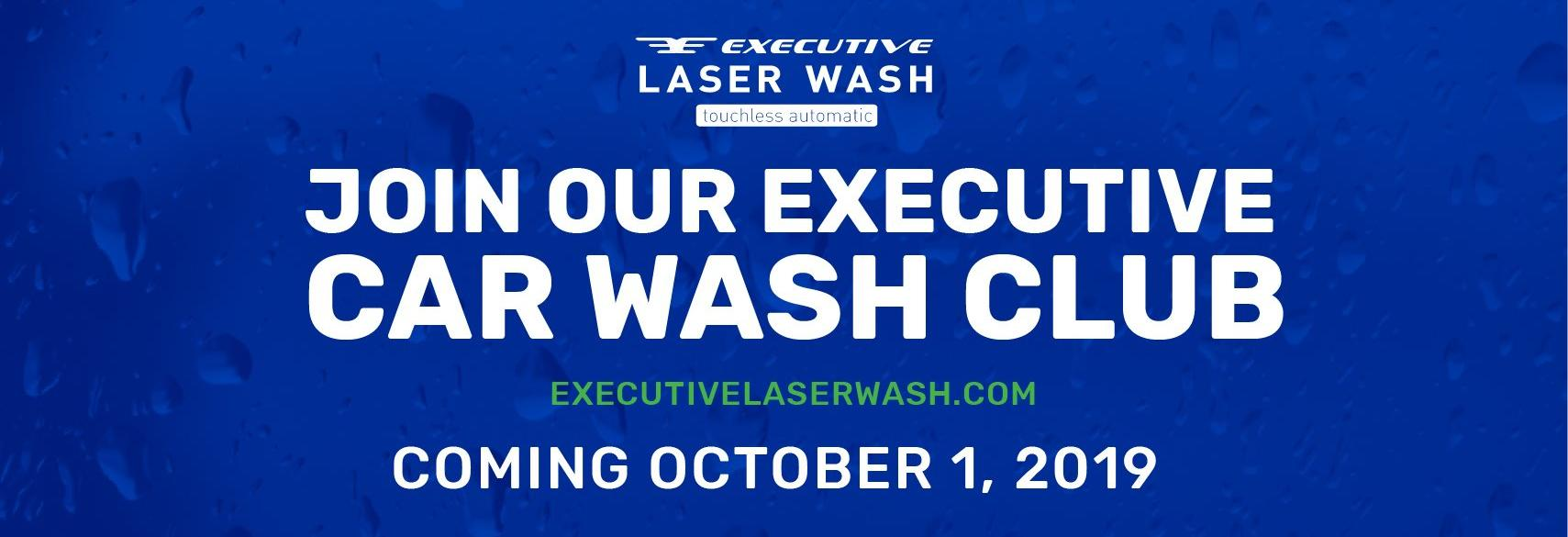 Executive Laser Wash touchless automatic clean car wash club