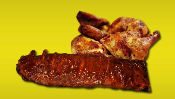 photo of Carlo's Pizza ribs and bbq chicken