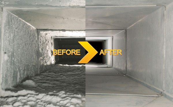 before and after air duct cleaning carolina duct & crawl concord north carolina