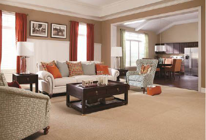 Home furnished with carpet from The Carpet Guys
