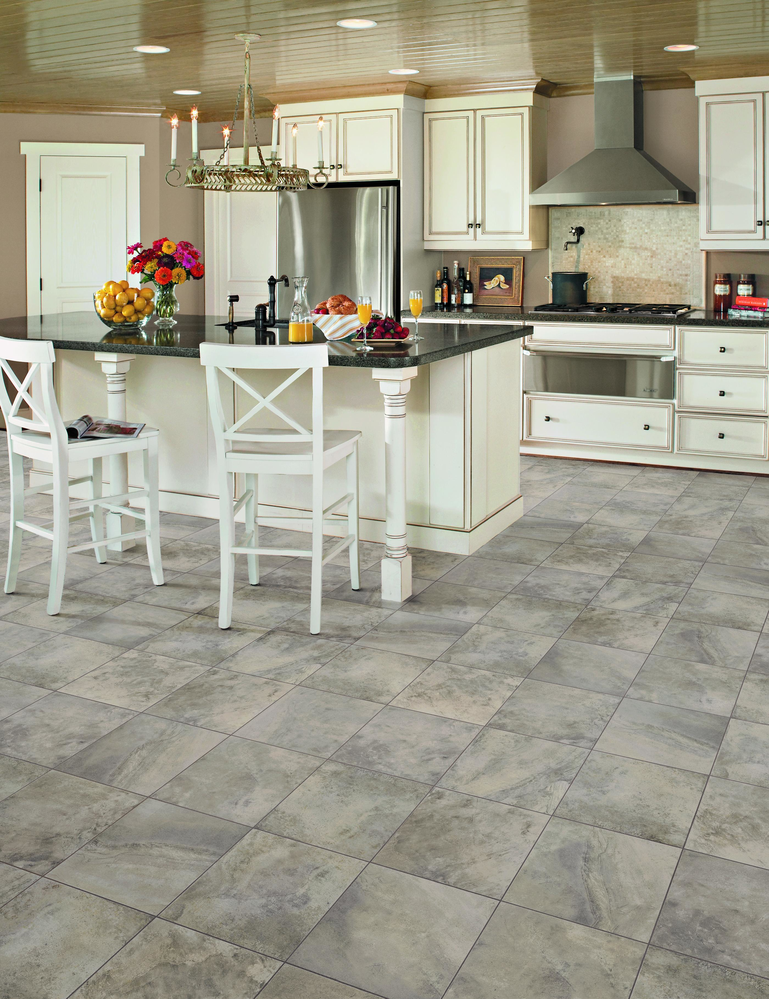 A kitchen is just one room that is perfect for Vinyl flooring in Detroit