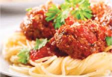 Spaghetti and meatballs near Burbank