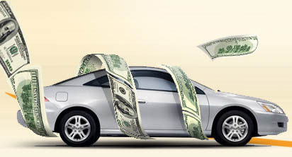 Car Wrapped in Cash from RS Auto Sales in Chester, NJ