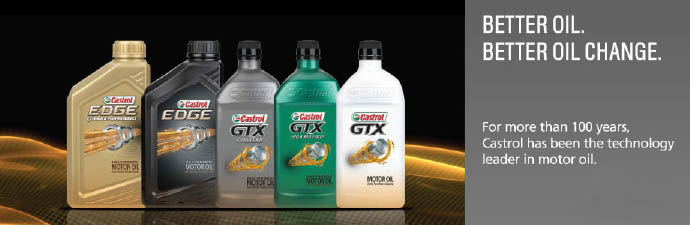 Castrol Premium Lube Express uses the best oil for the best oil change Atlanta