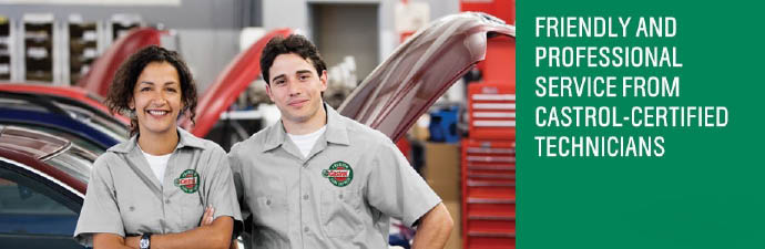 Castrol Premium Lube Express certified mechanics perform auto repair for less