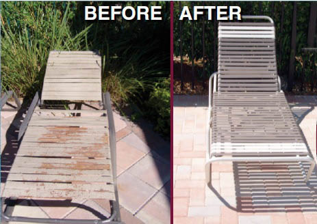 repaired pool chairs by Casual Furniture Repair & Sales