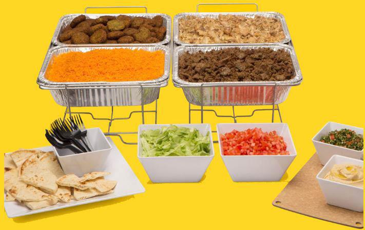 The Halal Guys, Platter, gyro, sandwich, falafel, chicken, beef gyro, red sauce, white sauce, pita, lamb, Springfield, VA