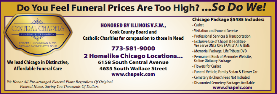 Central Chapel - Funeral & Cremation in Chicago, IL banner