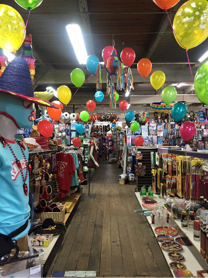 Interior of Champion Party Supply in Seattle, Washington
