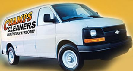 photo of Champs Cleaners delivery van in Clarkston, MI