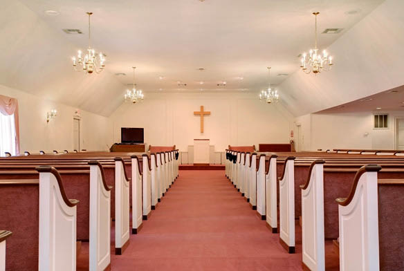 Chapel at funeral home