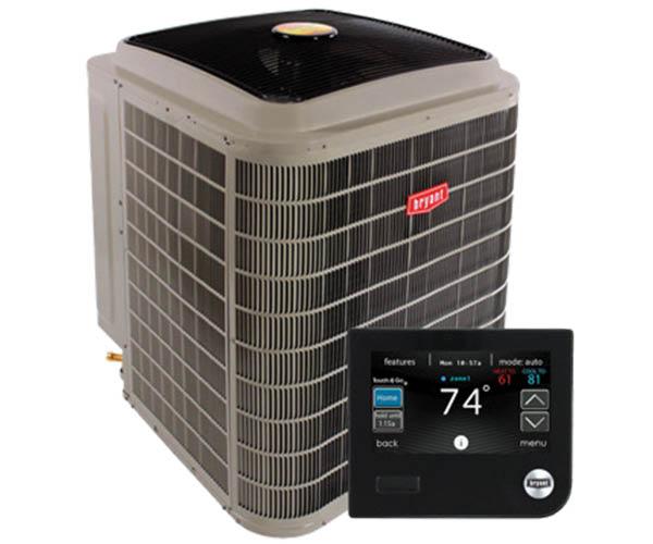 Bryant HVAC unit and thermostat