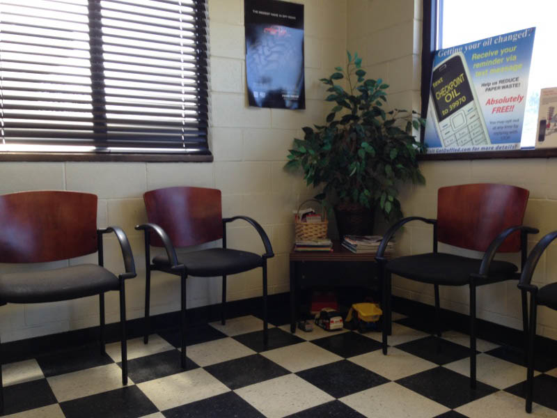 Checkpoint Automotive waiting room