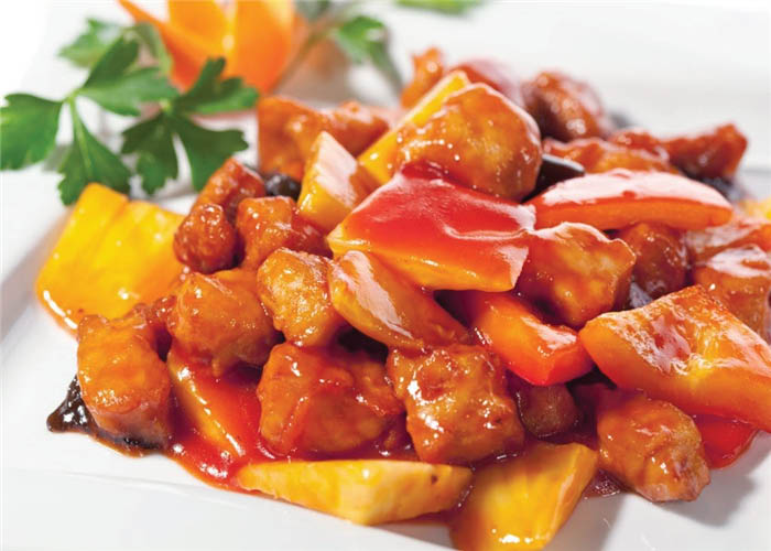 Sweet & Sour Pork from Chef King in Seattle, WA - Sweet & Sour Pork from Yummy Chinese in Des Moines, WA - Chinese food coupons near me - Chinese restaurants near me