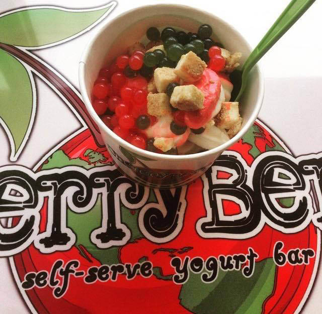 Cherry Berry Frozen Yogurt Froyo