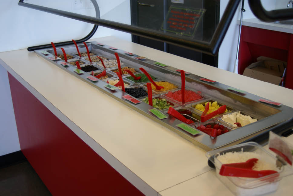 Topping bar at Cherry Berry in Davis County, Utah
