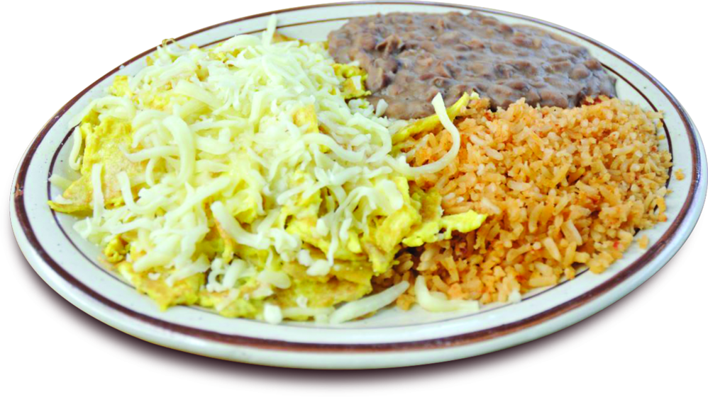 eggs, rice and beans