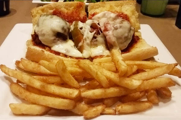 meatball sub from chesdans pizza homer glen il