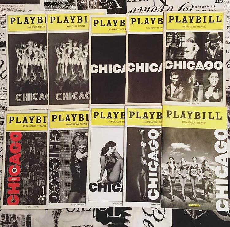 Playbills for broadway show 'Chicago The Musical'