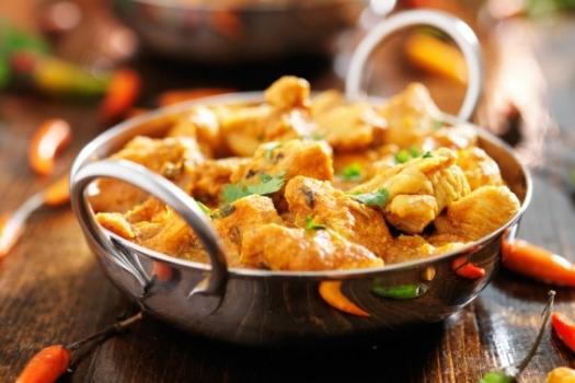 Chicken Korma Dish, traditional Indian food