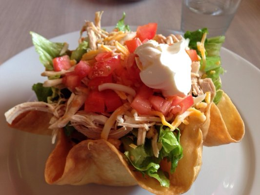Chicken Taco Salad at Auburn's Sin Pancho Mexican Restaurant