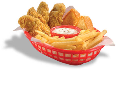Chick'n Strip Country Basket; dairy queen of fort worth, texas