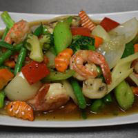 Shrimp and Vegetables - Thai meal near Circle Pines, MN