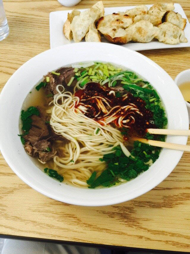 Everett, Washington China Dumpling & Noodle House - noodle soup with soft, fresh noodles