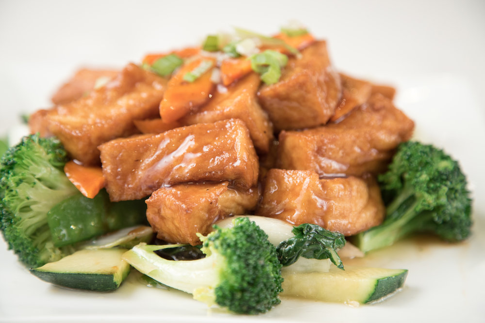 Authentic Chinese homemade Braised Tofu with Vegetables