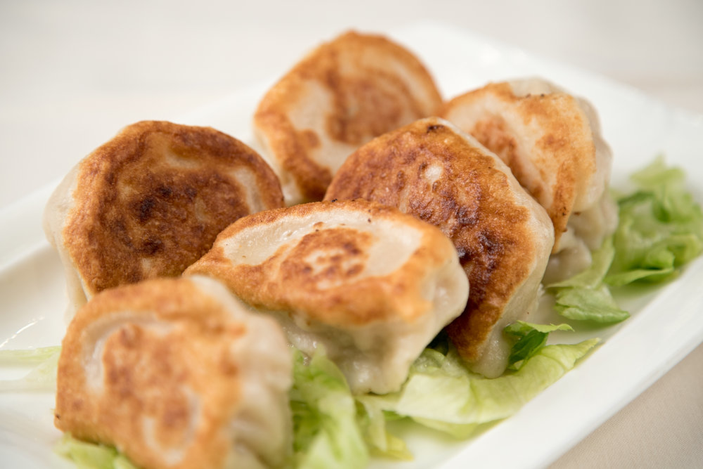 Chinese pot stickers appetizer to share around your table