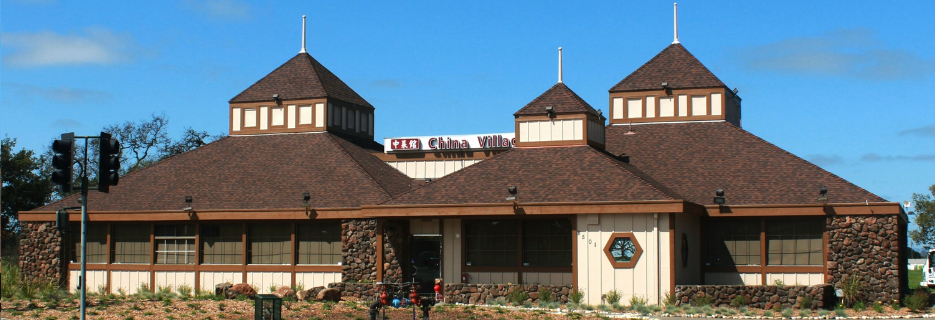 China Village exterior of building on San Marin Drive banner