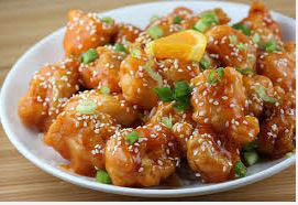 Honey sesame chicken from China Station in Naperville, IL