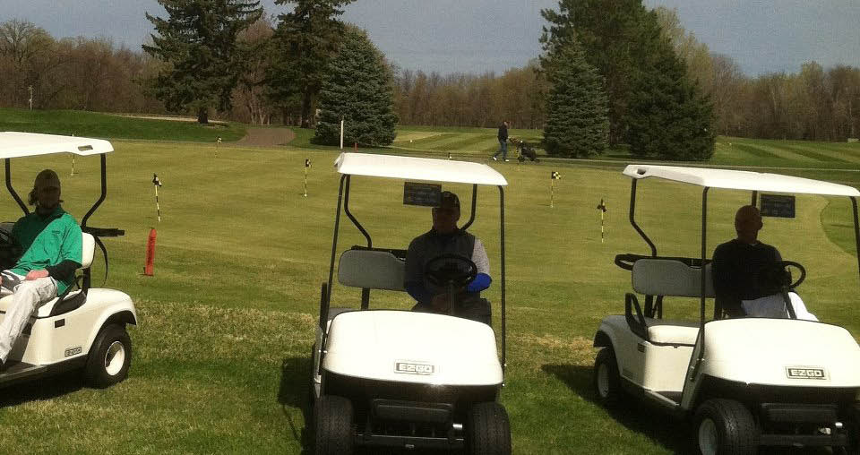 golf carts at golf course near Minneapolis