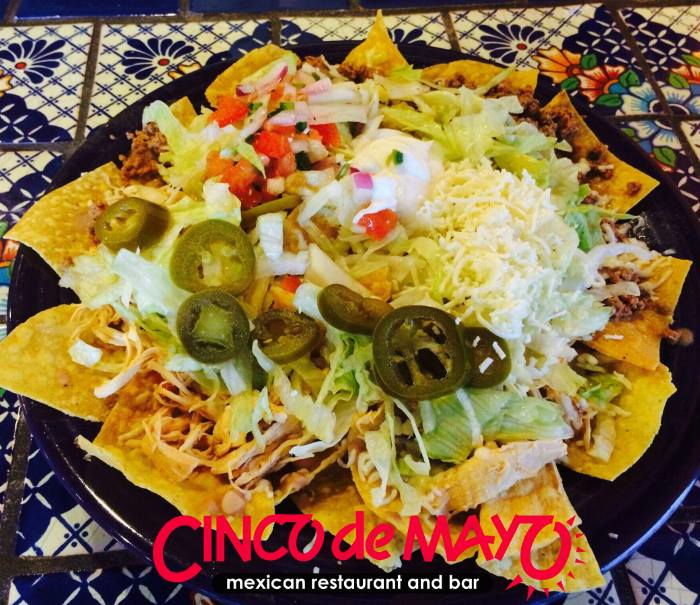 Cinco de Mayo Mexican Restaurant and Bar westminster and columbia, md  nachos.
