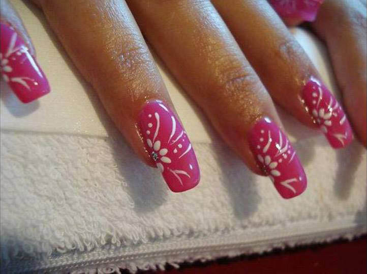 manicure nail painting shellac gel acrylic fills full set nail salon