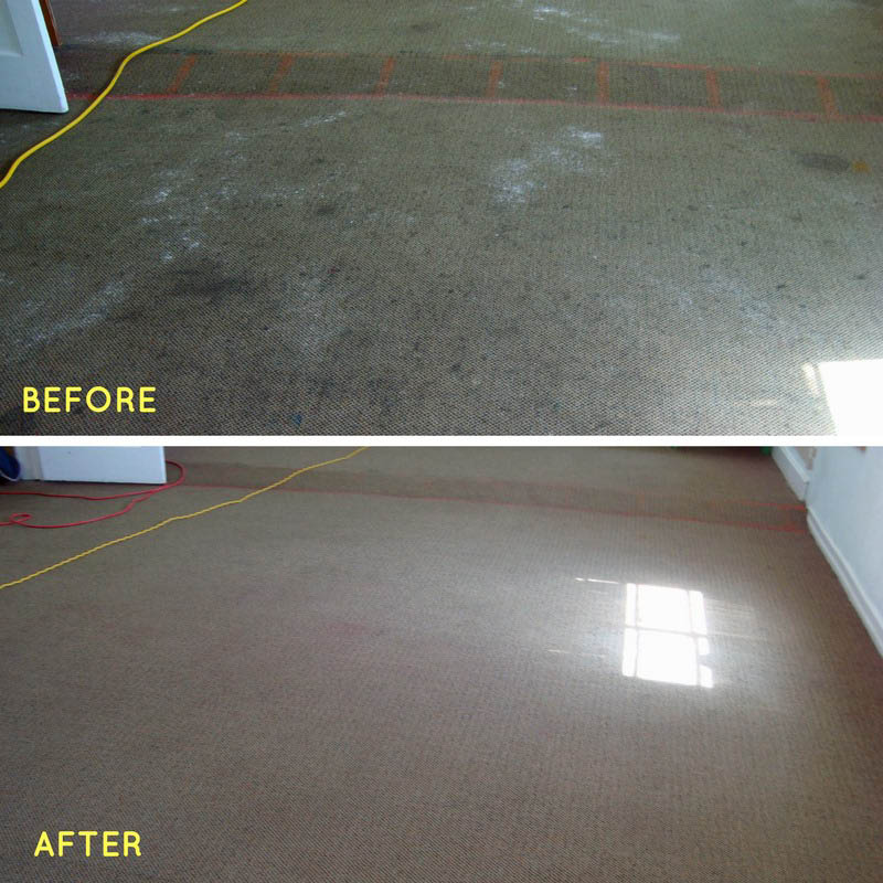before and after hard floor cleaning by CitruSolution in Nashville