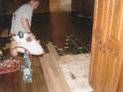 Installation of hardwood by Clark Flooring Co. Inc. in St. Louis