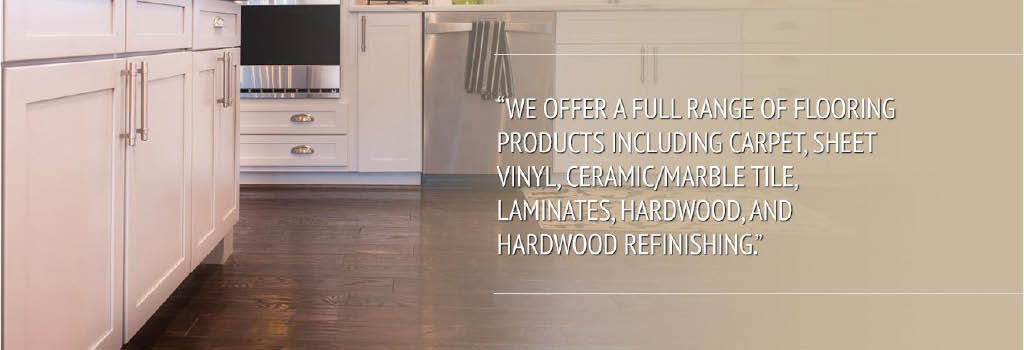 All types of flooring available at Clark Flooring Co., Inc.
