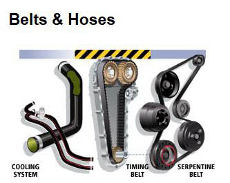 Our auto repair shop uses the best belts and hoses and other quality auto parts