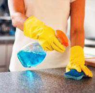 Kitchen counter top cleaning surfaces
