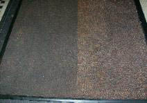 Before and After shots of dirty vs. clean carpet