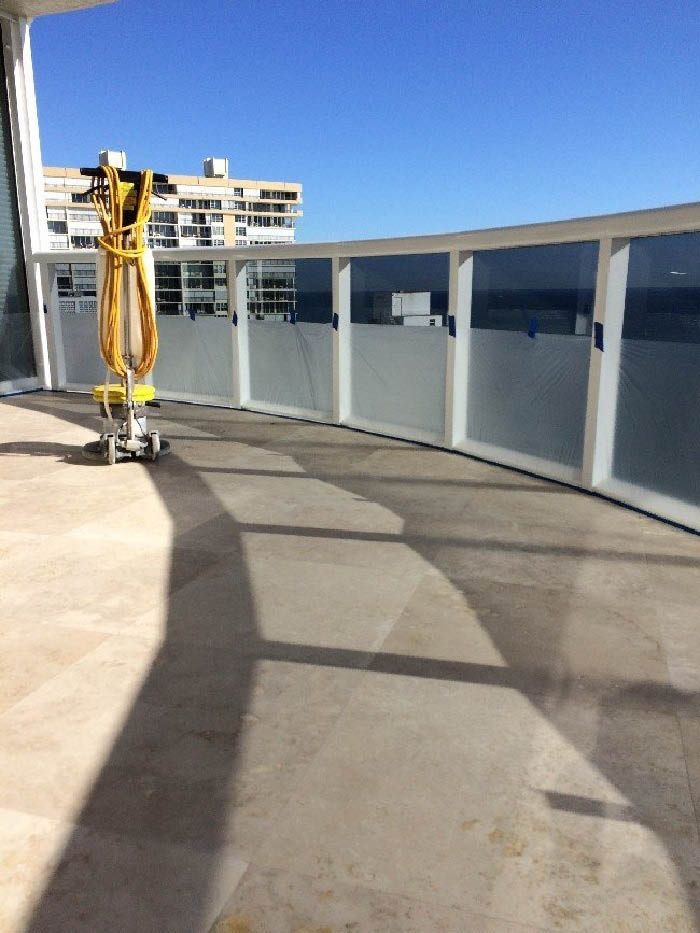 Concrete stain in West Palm Beach, Palm County