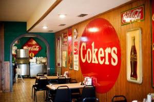 inside Coker's BBQ in Arlington, TX