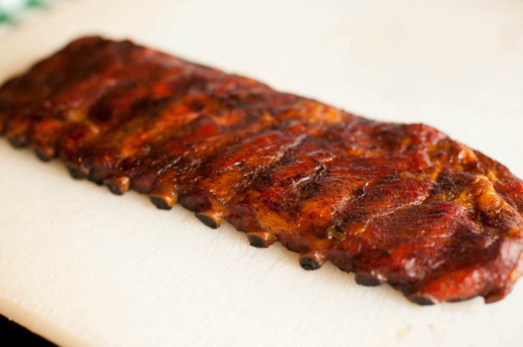 plate of ribs from Coker's BBQ in Arlington, TX